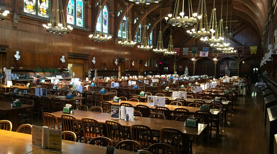 Annenberg Dinning Hall in Harvard
