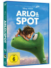 DVD-Cover von Arlo & Spot | ©2015 Disney•Pixar. All Rights Reserved.